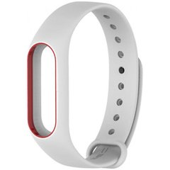 Ремінець Xiaomi Mi Band 2 White-Red orig.